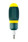 Reversible screwdriver handle with a combined. Against white background Royalty Free Stock Image