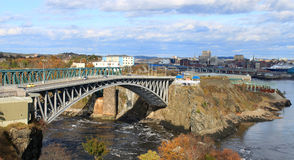 Reversing Falls bridge, Saint John NB Stock Photo
