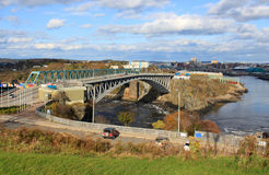Reversing Falls bridge, Saint John NB Royalty Free Stock Photos