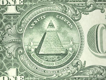 Reverso macro um nós nota de dólar Fotos de Stock Royalty Free