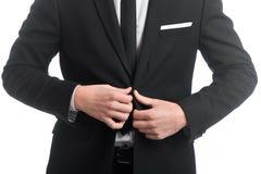 Revestimento da asseguração do homem de negócios fotos de stock royalty free
