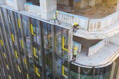 Revestimento da fachada da construção imagens de stock