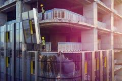 Revestimento da fachada da construção foto de stock