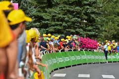 Revestimento da fase 17 do th em cavaleiros de Serre, Tour de France 2017 fotografia de stock