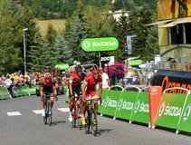 Revestimento da fase 17 em cavaleiros de Serre, Tour de France 2017 foto de stock