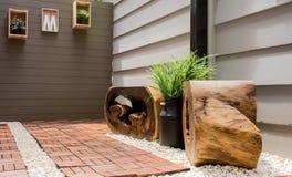 Revestimento da madeira e da pedra Imagens de Stock Royalty Free