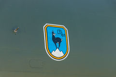 Revestimento da unidade militar LTG 61 Lufttransportgeschwader da aviação 61 aviões Transall C-160 Força aérea alemão Imagens de Stock Royalty Free
