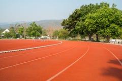Revestimento de borracha exterior, pista de atletismo de borracha exterior Fotos de Stock