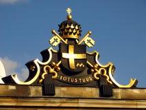 Revestimento de braços de Pope John Paul Ii imagem de stock royalty free