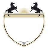 Revestimento de braços com cavalos Imagem de Stock