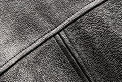 Revestimento de couro preto Imagens de Stock
