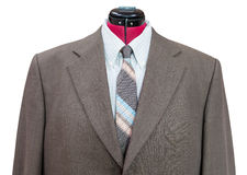 Revestimento de lã verde com o ascendente próximo da camisa e do laço Fotografia de Stock