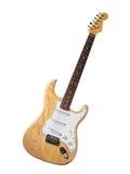 Revestimento de madeira da guitarra elétrica Fotografia de Stock Royalty Free