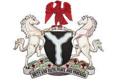 Revestimento de Nigéria de braços Fotografia de Stock Royalty Free