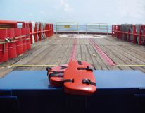 Revestimento de vida do dispositivo de segurança da flutuação da manutenção das funções vitais, veste de vida, veste do trabalho, imagens de stock
