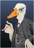 Revestimento do ganso como uma caricatura Fotografia de Stock