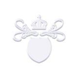 Revestimento do metal com coroa Imagens de Stock Royalty Free
