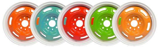 Revestimento do pó de discos da roda imagens de stock