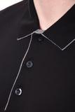 Revestimento do ` s dos homens do colar do close-up Foto de Stock
