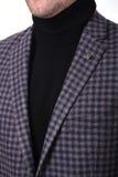 Revestimento do ` s dos homens do colar do close-up Foto de Stock Royalty Free