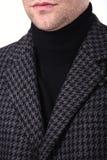 Revestimento do ` s dos homens do colar do close-up Imagens de Stock Royalty Free