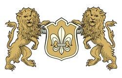 Revestimento do vetor dos leões dos braços Fotografia de Stock
