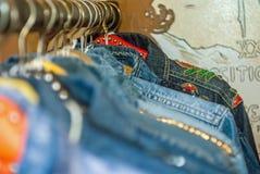 Revestimentos retros da sarja de Nimes Foto de Stock Royalty Free