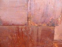 Revestimiento de madera áspero oxidado del metal del fondo fotos de archivo libres de regalías