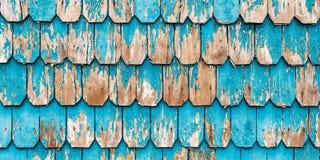 Revestimiento de madera de madera de la turquesa del vintage, Patagonia, Chile imagen de archivo