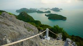 Revestimiento del wua TA de Ko en parque marino nacional del angthong del ko de MU imagen de archivo libre de regalías