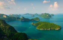 Revestimiento del wua TA de Ko en parque marino nacional del angthong del ko de MU imagen de archivo