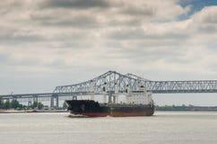 Revestimiento marino en el Mississippi Imágenes de archivo libres de regalías