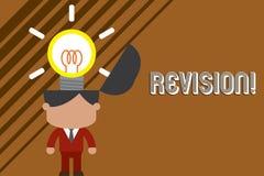 Revidering f?r textteckenvisning Begreppsm?ssig fotohandling av revidering ?ver n?gon som revidera eller redovisande anseende royaltyfri illustrationer