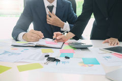 Revidieren Sie Konzept, Buchhalter Team oder Finanzinspektor Stockbild