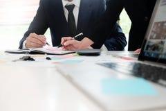 Revidieren Sie Konzept, Buchhalter Team oder Finanzinspektor Stockfotografie