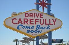 Reviennent l'affiche de Las Vegas sur la bande de Las Vegas Vacances de voyage image libre de droits