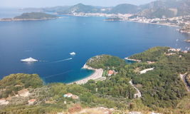 Reviera. Budva Reviera panorama Royalty Free Stock Photography