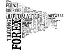 A Review Of Automated Forex Brokers Word Cloud Stock Photo