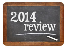 2014 review on blackboard Royalty Free Stock Image