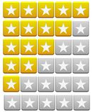 Review Buttons orange and gray Royalty Free Stock Image