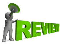 Review Character Shows Assessing Evaluating Royalty Free Stock Image