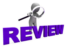 Review Character Shows Reviewing Evaluate And Reviews Stock Photos