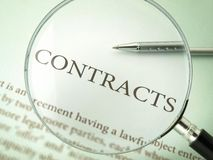 Contracts Royalty Free Stock Photo