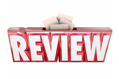 Review 3d Word Collection Suggestion Score Card Box Stock Photo