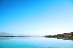 Review of Dead Sea. Dead Sea landscape pretty clean in the summer day Royalty Free Stock Photography