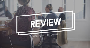Review Evaluate Assess Appraisal Report Audit Concept. Business People Discussion Review Evaluate Report Royalty Free Stock Photos