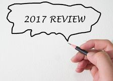 2017 Review by hand write Stock Images