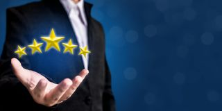 Review, increase rating or ranking, evaluation and classificatio Royalty Free Stock Photo