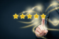 Review increase rating Stock Photography
