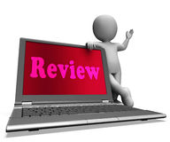 Review Laptop Means Check Evaluation Or Reassess. Review Laptop Meaning Check Evaluation Or Reassess Stock Photography